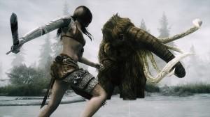 video-games-combat-mammoth-swords-marsh-the-elder-scrolls-v-skyrim-HD-Wallpapers